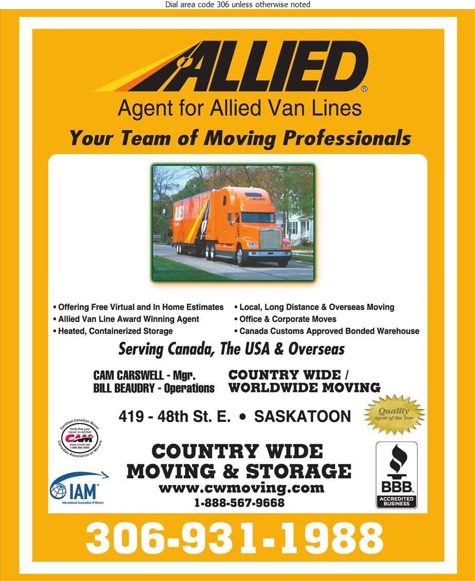Country Wide Moving & Storage - Movers Digital Ad