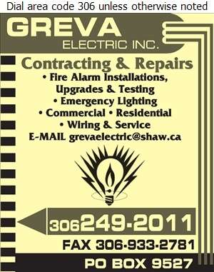 Greva Electric Inc - Electric Contractors Digital Ad