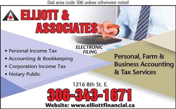 Elliott & Associates (accountants) - Income Tax Consultants Digital Ad