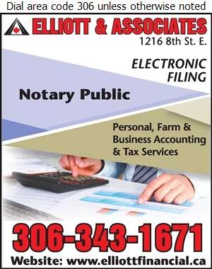 Elliott & Associates (accountants) - Notaries Public Digital Ad