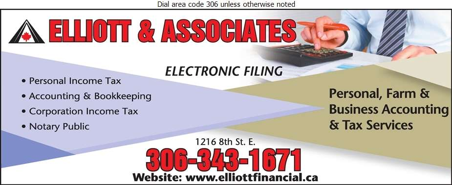 Elliott & Associates (accountants) - Tax Return Preparation Digital Ad