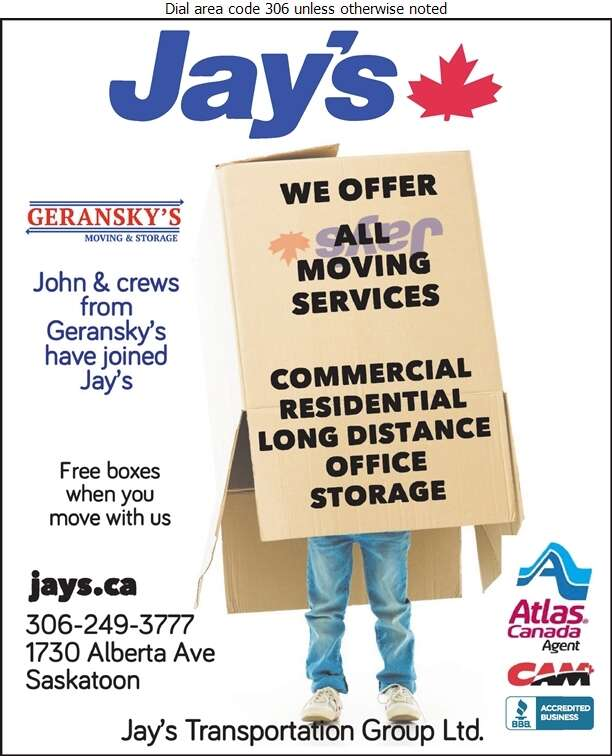 Jay's Transportation Group Ltd (Dispatch) - Movers Digital Ad