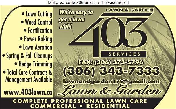 403 Lawn & Garden Services - Lawn Maintenance Digital Ad