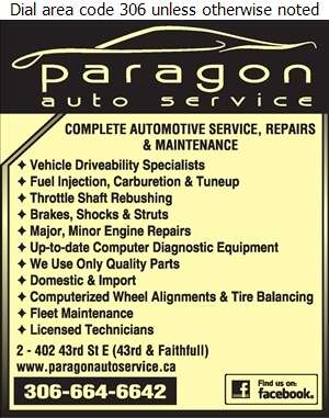 Paragon Auto Service Inc - Auto Repairing Digital Ad
