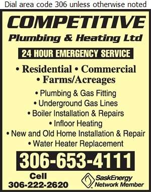 Competitive Plumbing & Heating Ltd - Plumbing Contractors Digital Ad