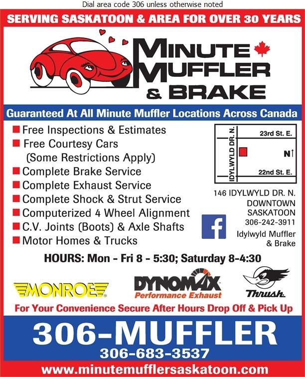 Minute Muffler & Brake - Mufflers Exhaust Digital Ad
