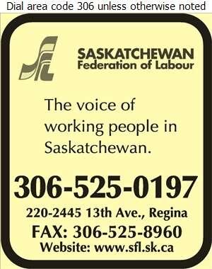 Saskatchewan Federation Of Labour - Labour Organizations Digital Ad