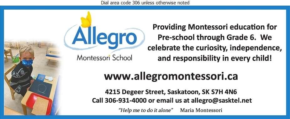 Allegro Montessori School Inc - Schools & Colleges Digital Ad