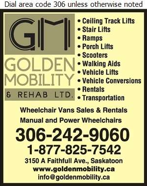 Golden Mobility & Rehab Ltd - Wheel Chair Lifts Digital Ad