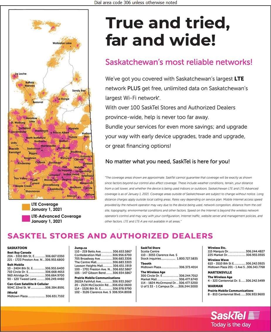 SaskTel Cellular - Cellular Telephones Digital Ad
