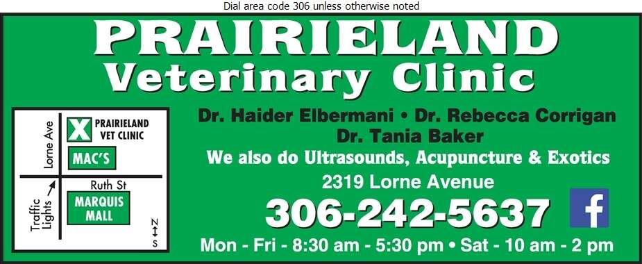 Prairieland Veterinary Clinic - Veterinarians Digital Ad