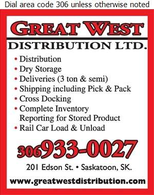 Great West Distribution (Shipping Fax) - Warehouses Merchandise Digital Ad