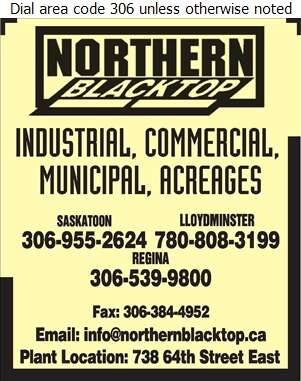 Northern Blacktop - Paving Contractors Digital Ad