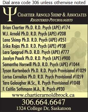 Chartier Arnold Shimp & Associates - Psychologists Digital Ad