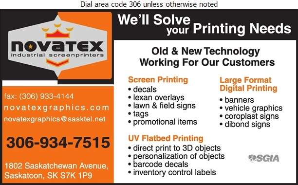Novatex Graphics - Signs Digital Ad