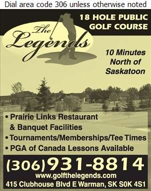 The Legends Golf Club (Prairie Links Restaurant) - Golf Courses Public Digital Ad