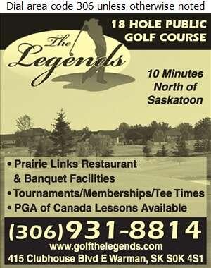 The Legends Golf Club (Prairie Links Restaurant) - Golf Courses Public Digital Ad