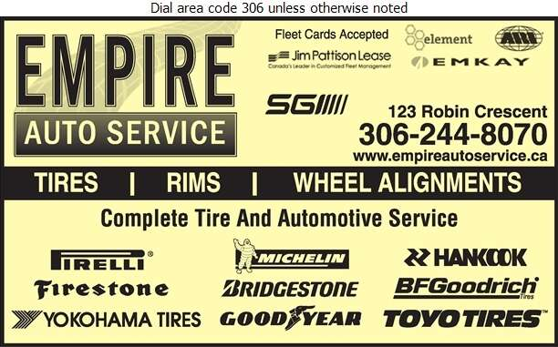 Empire Auto Service - Tire Dealers Retail Digital Ad