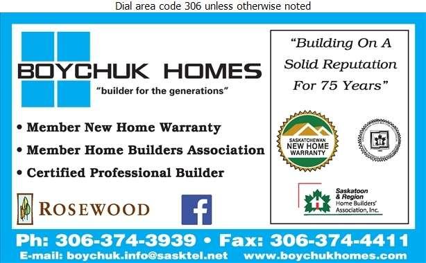 Boychuk Homes - Builders & Contractors Digital Ad