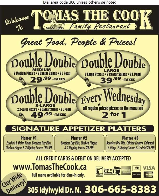 Tomas The Cook Family Restaurant - Pizza Digital Ad