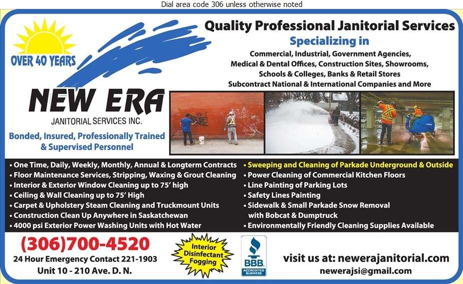 New Era Janitorial Services Inc - Janitor Service Digital Ad