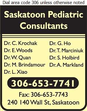 Saskatoon Pediatric Consultants - Physicians & Surgeons Digital Ad
