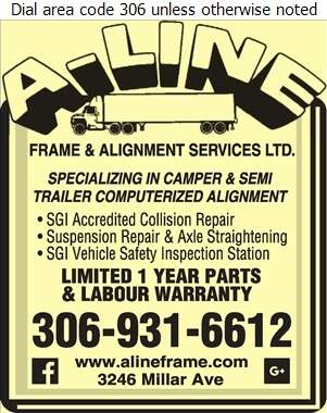 A-Line Frame & Alignment - Recreation Vehicles Digital Ad