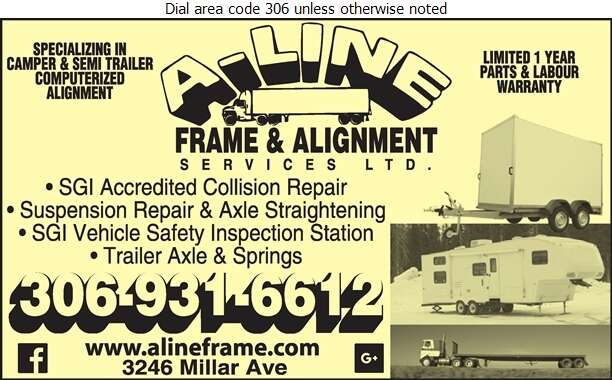 A-Line Frame & Alignment - Trailers Repairing & Service Digital Ad