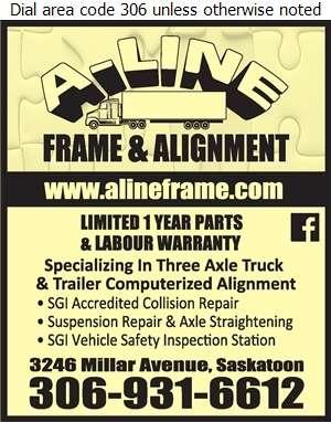 A-Line Frame & Alignment - Truck Repairing & Service Digital Ad