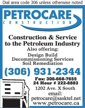 Petrocare Construction Ltd - Service Station Equipment Digital Ad
