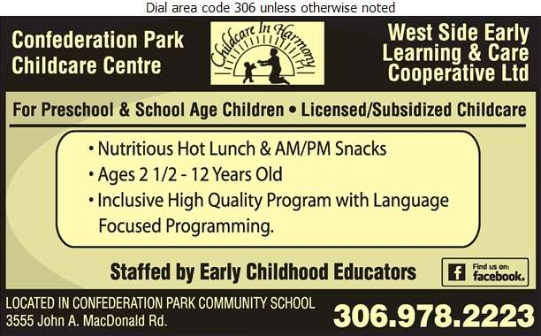 Confederation Park Childcare Cooperative - Day Care Centres & Nurseries Digital Ad