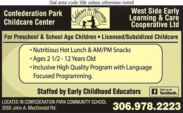 Confederation Park Childcare Cooperative - Day Care Centres & Nurseries Digital Ad