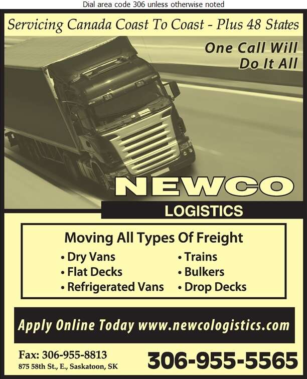 Newco Logistics - Trucking Digital Ad