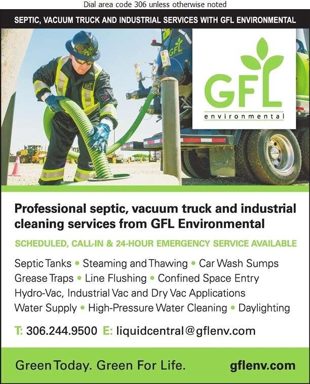 GFL Environmental Inc - Septic Tanks Sales & Service Digital Ad