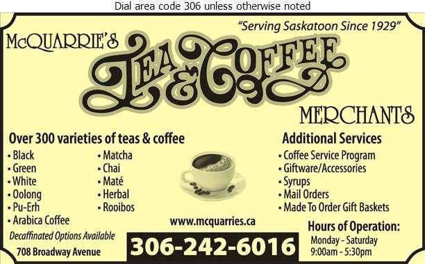 McQuarrie's Tea & Coffee Merchants - Coffee Retail Digital Ad