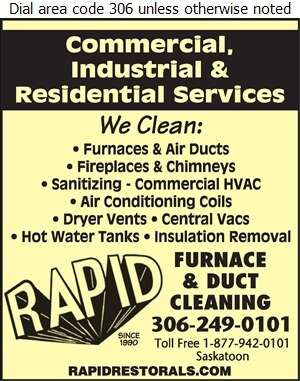 Rapid Air Duct & Furnace Cleaning - Furnaces Cleaning Digital Ad