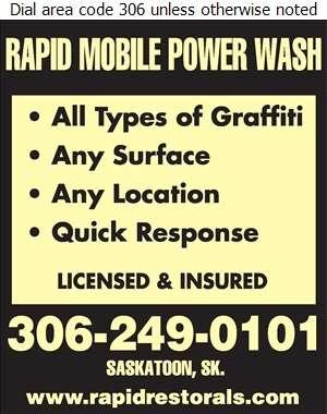 Rapid Mobile Power Wash - Graffiti Removal Digital Ad