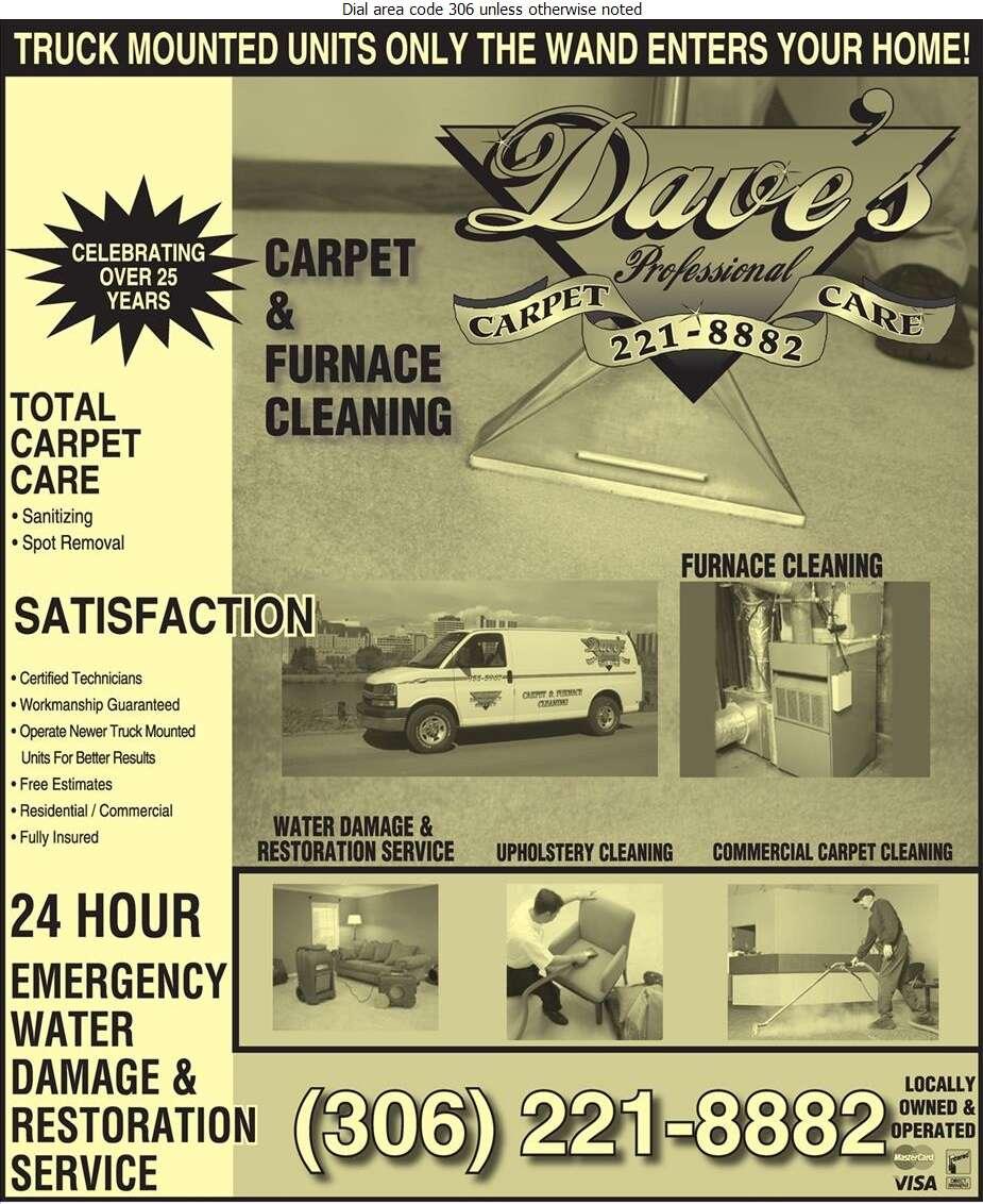 Dave's Professional Carpet Care - Carpet & Rug Cleaners Digital Ad