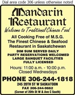 Mandarin Restaurant - Restaurants Digital Ad