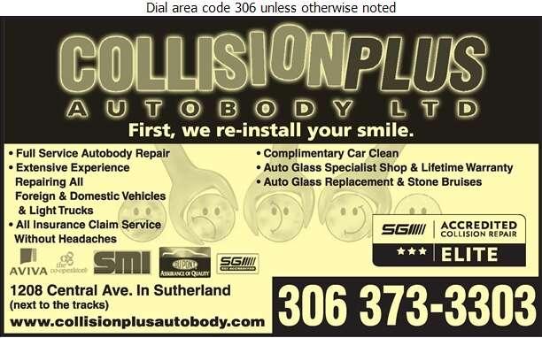 Collision Plus - Auto Body Repairing Digital Ad