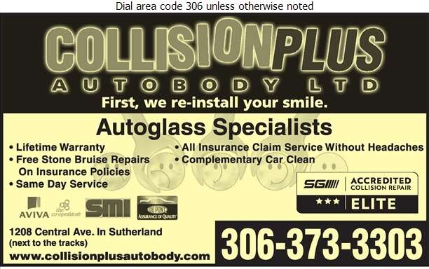 Collision Plus - Glass Auto, Float, Plate, Window Etc Digital Ad