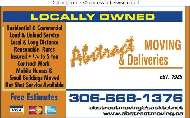 Abstract Moving & Delivery (1992) - Delivery Service Digital Ad