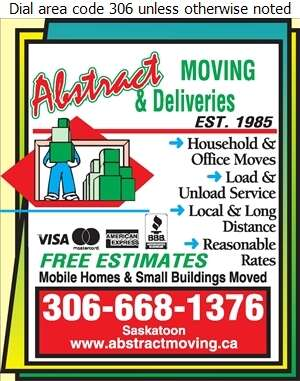 Abstract Moving & Delivery (1992) - Courier Service Digital Ad