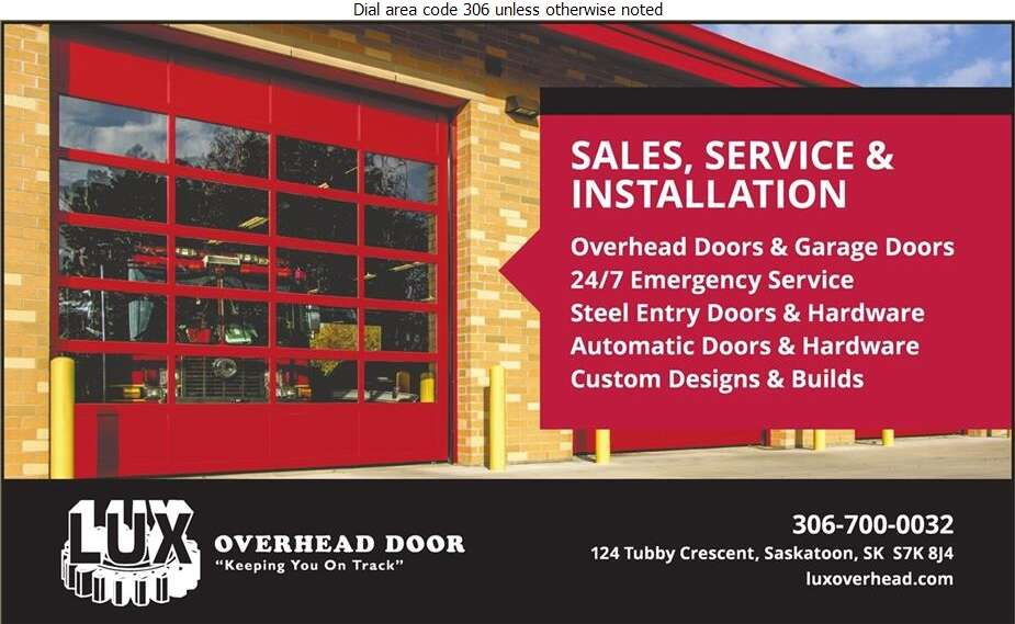 Lux Overhead Door - Doors Overhead Digital Ad