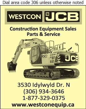 Westcon Equipment & Rentals Ltd - Contractors Equipment Supplies & Service Digital Ad