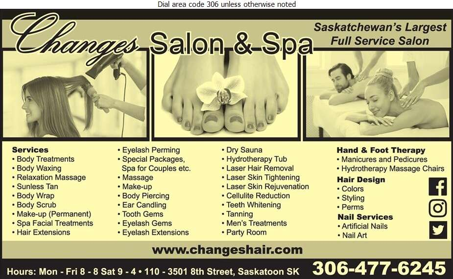 Changes Salon And Spa - Beauty Salons Digital Ad