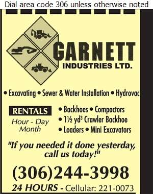 Garnett Industries - Excavating Contractors Digital Ad
