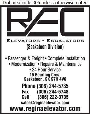 Regina Elevator Co - Elevators Freight & Passenger Digital Ad