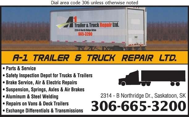 A-1 Trailer & Truck Repair Ltd - Trailers Repairing & Service Digital Ad