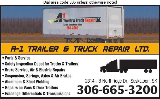 A-1 Trailer & Truck Repair Ltd - Truck Repairing & Service Digital Ad